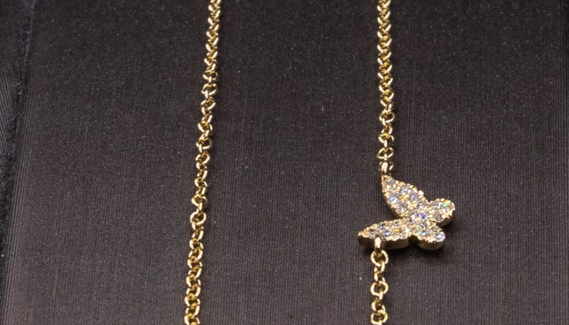 Just Listed: 14kyg 2-Butterfly Pendant