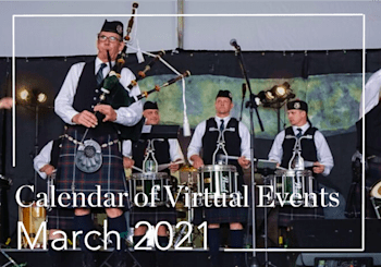 Virtual Calendar of Events: March 2021