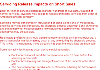 Bank of America Short Sale Update – Let the Good Times Roll