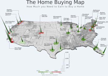 Incomes Needed To Buy Around The Country
