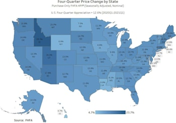 FHFA Home Price Index Quarterly Results