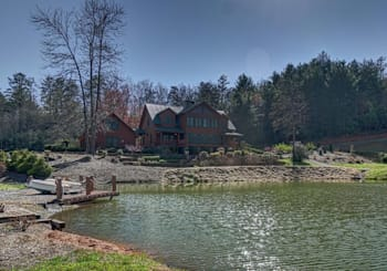 JUST LISTED!!! Incredible Rustic Luxury Mountain View Cabin on 8.09 Acres Overlooking Large Pond
