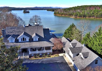 JUST LISTED! Luxury 3 Level Lake Nottely Estate with Over 298 feet Year-round Deep Water!