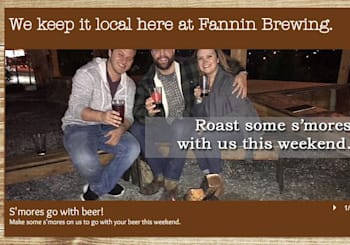 Winter Time S'Mores Weekend at Fannin Brewing Co.