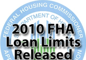 2010 FHA Loan Limits Released