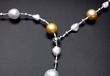 Just Listed: 18kwg Pearl Necklace