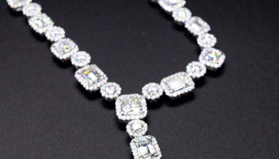 Just Listed: 18kwg Diamond Necklace