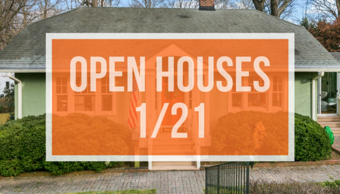 Open Houses this Sunday, January 21st from 2pm to 4pm