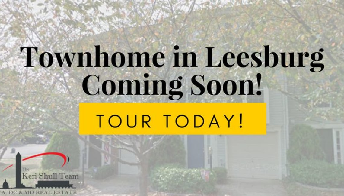 Coming Soon: Leesburg Townhome!