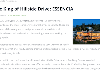 Press Release Published on ESSENCIA