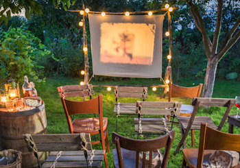 DIY Backyard Movie Theater