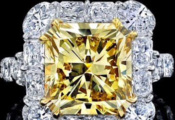 6.72 Carat Yellow Diamond