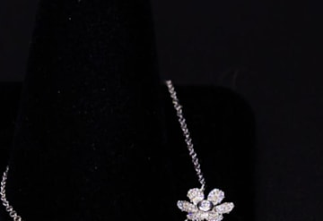 Just Listed: 14kwg Flower Pendant