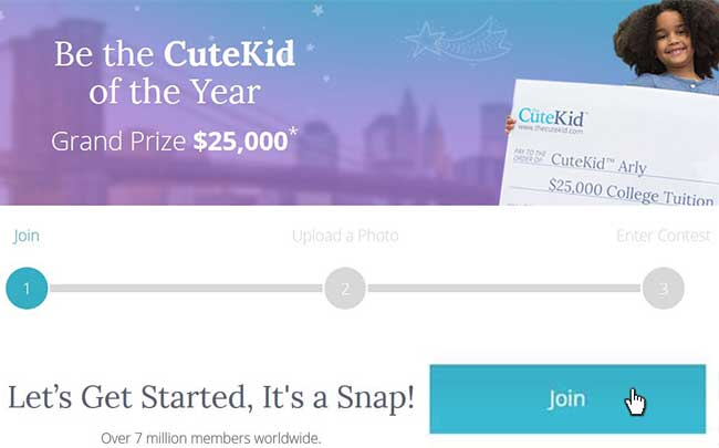 Join the Cute Kid contest banner