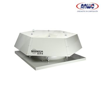 EXTRACTOR AXIAL TEJADO HELICE POLIAMIDA 6 REFORZADA T° MAX TRANSP 60°C 72dB(A) 0,09KW 380V IP-55