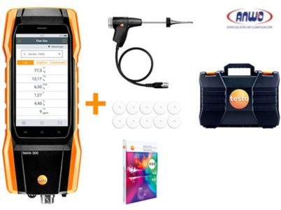TESTO 300  (Long Life)  SET ANALIZADOR COMBUSTIÓN  (O2, COH2)- RANGO CO (30.000 ppm)
