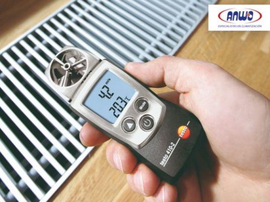 TESTO 410 - 2  Anemómetro de molinete con humedad