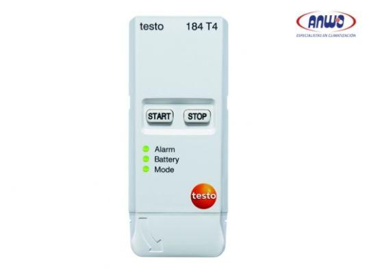 TESTO 184 T4 - Monitor de temperatura USB para medios de transporte y aplicaciones con hielo seco