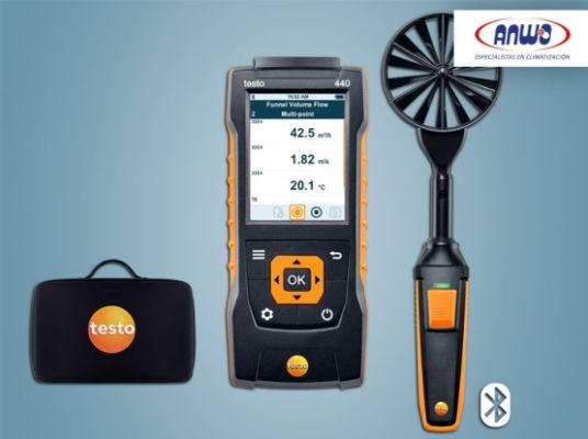 TESTO 440 - Set anemómetro molinete 100 MM Bluetooth
