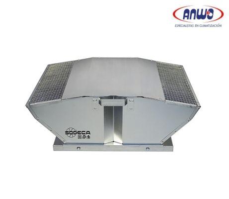 EXTRACTOR CENTRIF TEJADO DESC VERTICAL ALAB A REACCION MOTOR IP54 T° MAX 50°C 39dB(A) 0,14KW 220V