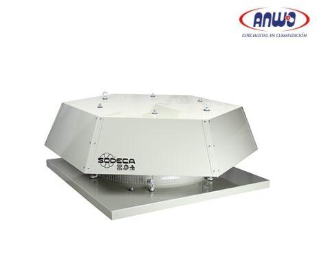 EXTRACTOR AXIAL TEJADO HELICE POLIAMIDA 6 REFORZADA T° MAX TRANSP 60°C 75dB(A) 0,25KW 380V IP-55