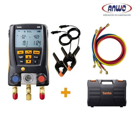 TESTO 550 SET - MANIFOLD DIGITAL CON MANGUERAS Y BLUETOOTH