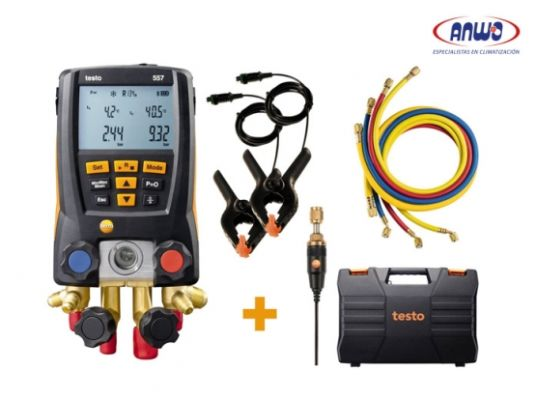 TESTO 557 SET - MANIFOLD DIGITAL CON MANGUERAS Y BLUETOOTH
