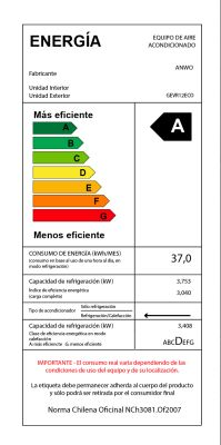 EAA FRÍO / CALOR 12000 BTU ECOLÓGICO