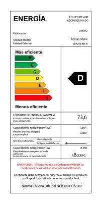 EAA FRÍO / CALOR 24000 BTU ECOLÓGICO CR ALÁMBRICO