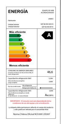 EAA FRÍO / CALOR 18000 BTU ECOLÓGICO CR ALÁMBRICO INVERTER