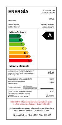 EAA FRÍO / CALOR 24000 BTU ECOLÓGICO CR ALÁMBRICO INVERTER