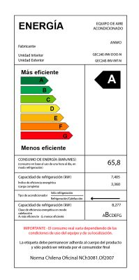 "EAA FRÍO / CALOR 24000 BTU ""ECOLÓGICO"" CR ALÁMBRICO"