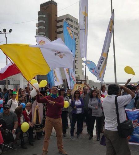 """""""Papa Francisco Contigo estoy"""" fue la canción ganadora del festival de la voz de Iquique"""
