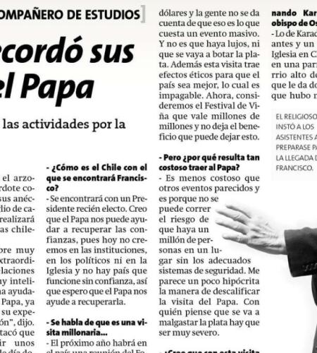 Sacerdote Fernando Montes recordó sus asados con el Papa Francisco