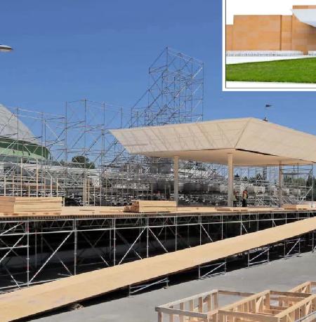 Material de altares de la visita del Papa se reutilizarán en viviendas de emergencia