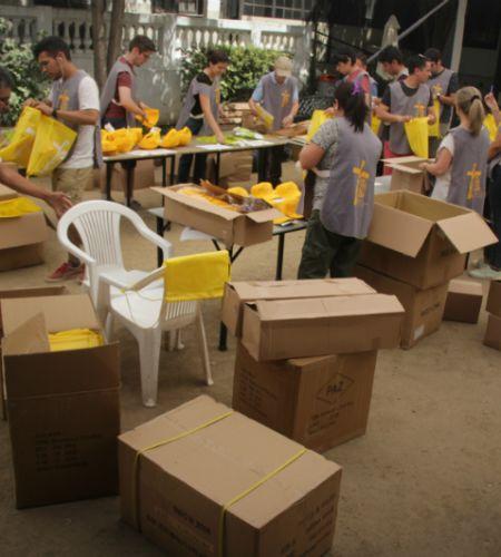 Con mucho entusiasmo comenzó la preparación del kit del voluntario