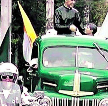 La camioneta verde del Padre Hurtado guiará al Papa