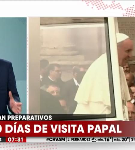 Realizan los últimos preparativos para la visita del Papa Francisco