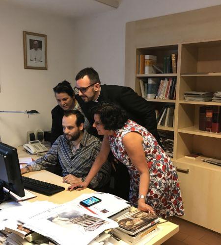 Área de Comunicaciones se prepara para la visita del Papa Francisco