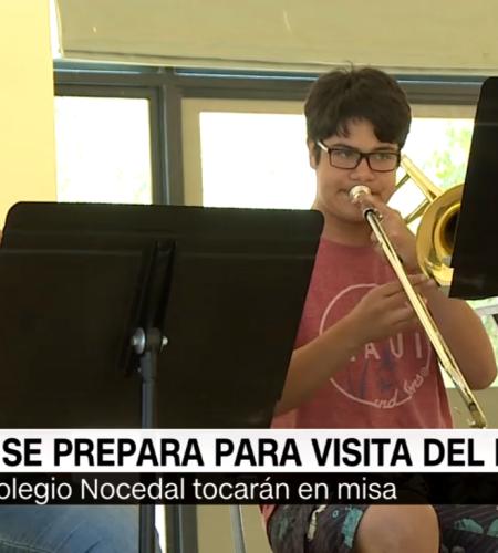 Mira cómo se prepara la orquesta que recibirá al papa Francisco