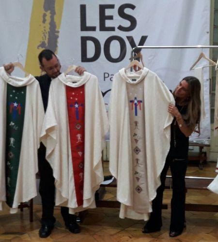 Los ornamentos que acompañarán al Papa en su visita se inspiran en la cultura ancestral de Chile