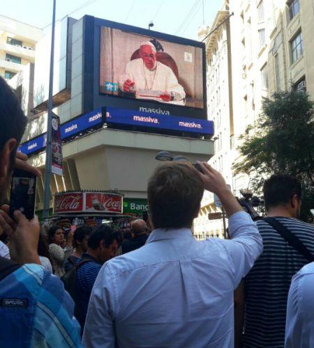 El Papa Francisco se tomó el Paseo Ahumada