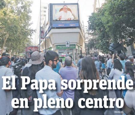 El Papa sorprende en pleno centro: