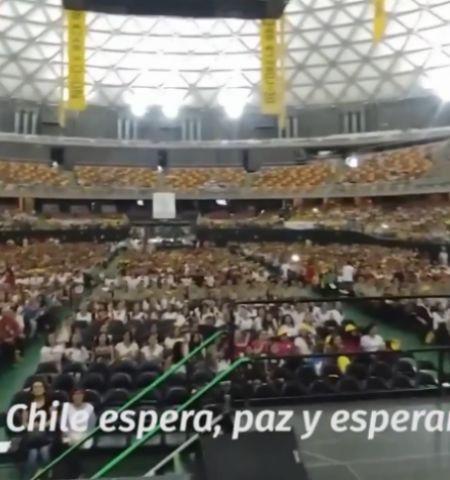 Chilenos buscan romper récord Guinness a la espera de la llegada del Papa Francisco