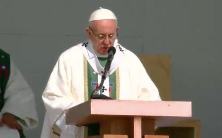 """Papa Francisco en Parque <br>O´Higgins: """"Sembrar la paz a golpe de proximidad, de vecindad"""""""