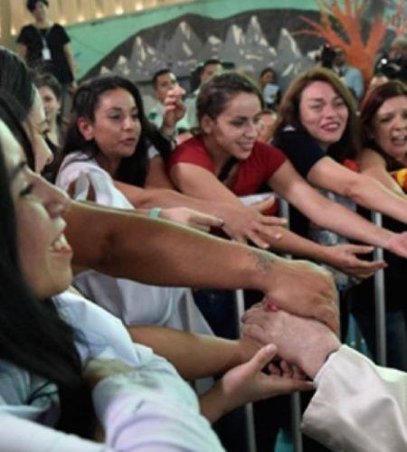 Papa Francisco en la cárcel de mujeres: