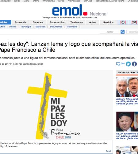 El significado que hay detrás del lema y logo de la visita papal a Chile