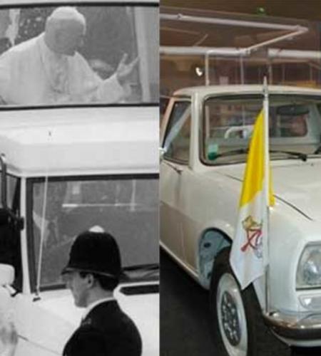 La evolución del Papamóvil, el medio de transporte oficial del Papa