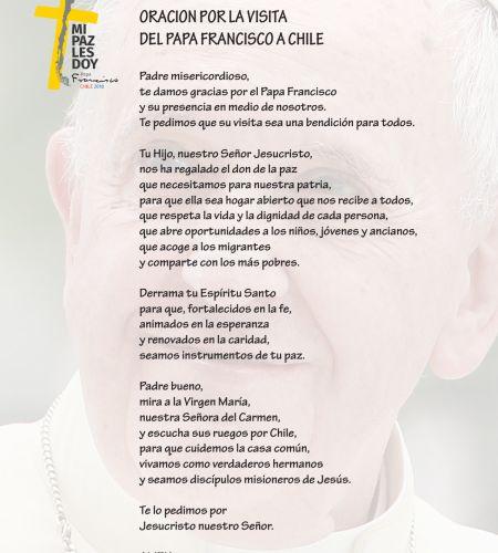 Difunden la Oración por la visita del Papa Francisco a Chile