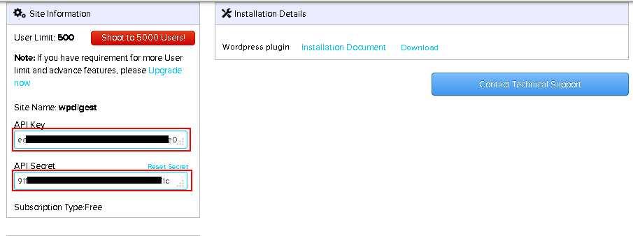 loginradius-API-Key-and-API-Secret-output